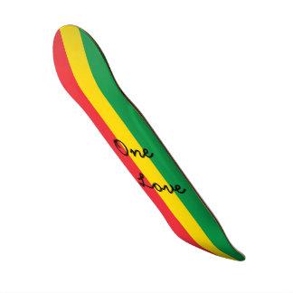 Strepen van de Vlag van de Kleur van Rasta de Skate Deck