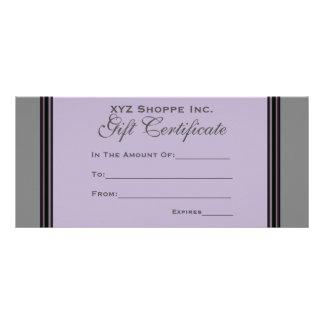 Strepen van het Certificaat van de gift de grijze Reclamekaart