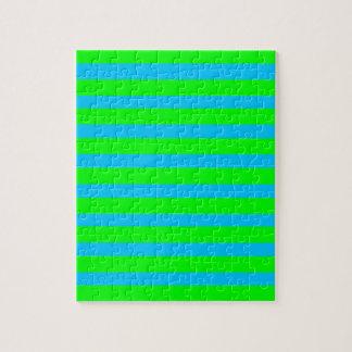 Strepen van het Limoen van het neon de Groene en Puzzel