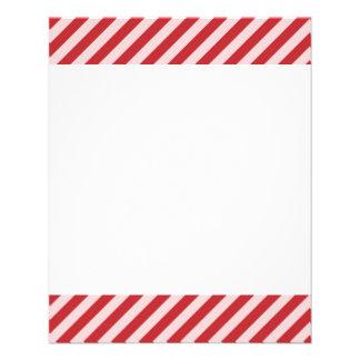 [Streptokok-rd-1] Rood en wit gestreept snoepriet Gepersonaliseerde Folder