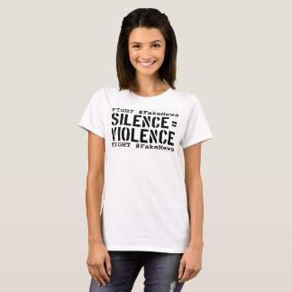 Strijd #FakeNews: De stilte evenaart (Zwart) T Shirt