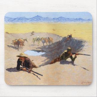 Strijd voor de Waterpoel ~ Frederic Remington Muismatten