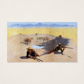 Strijd voor de Waterpoel ~ Frederic Remington Visitekaartjes