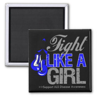 Strijd zoals een Meisje die - ALS Ziekte in dozen  Koelkast Magneet