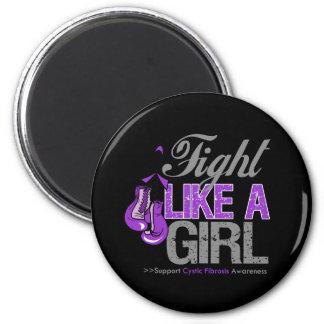 Strijd zoals een Meisje die - BlaasBindweefselverm Koelkast Magneet