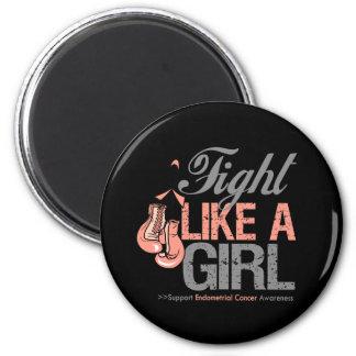 Strijd zoals een Meisje die - Endometrial Kanker i Koelkast Magneet