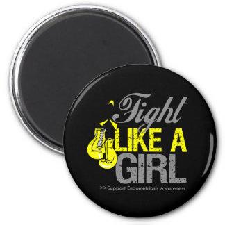 Strijd zoals een Meisje die - Endometriosis in doz Koelkast Magneetje