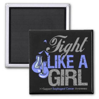 Strijd zoals een Meisje die - Esophageal Kanker in Koelkast Magneet
