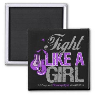 Strijd zoals een Meisje die - Fibromyalgia in doze Koelkast Magneetjes