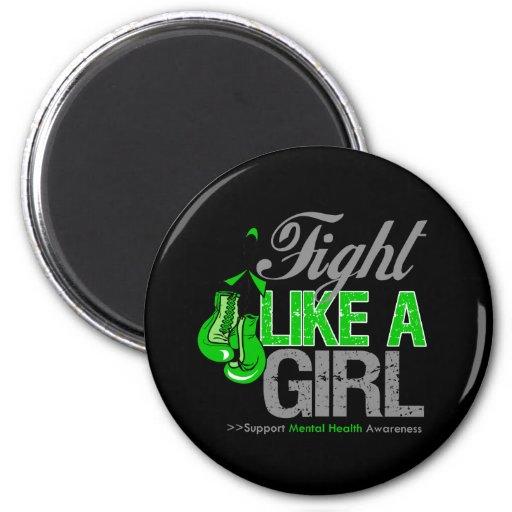 Strijd zoals een Meisje die - Geestelijke Gezondhe Koelkast Magneten