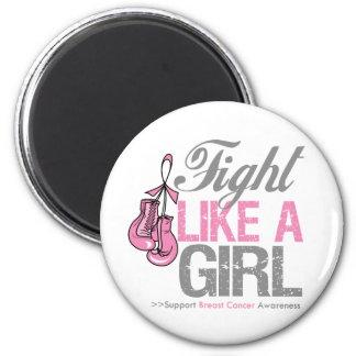 Strijd zoals een Meisje die - Kanker van de Borst  Koelkast Magneten
