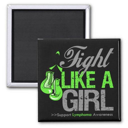 Strijd zoals een Meisje die - Lymphoma in dozen do Koelkast Magneten