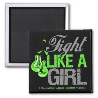 Strijd zoals een Meisje die - Lymphoma NonHodgkins Magneten