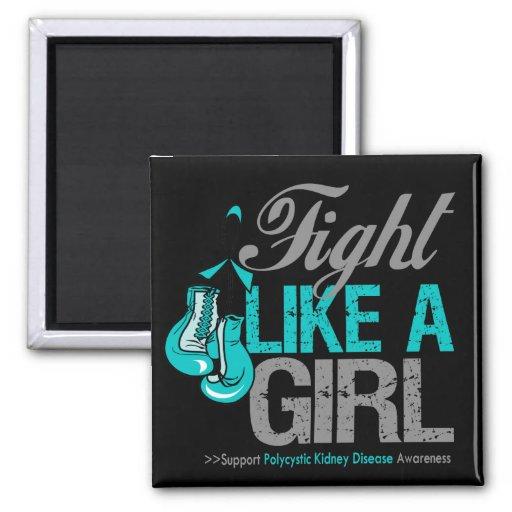 Strijd zoals een Meisje die Polycystic Ziekte van  Koelkast Magneetje