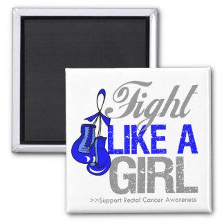 Strijd zoals een Meisje die - Rectale Kanker in do Koelkast Magneet