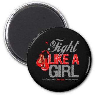 Strijd zoals een Meisje die - Slag in dozen doen Koelkast Magneten