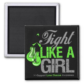Strijd zoals een Meisje die - Ziekte Lyme in dozen Magneet