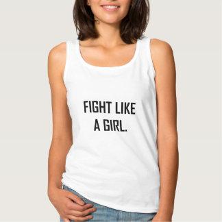 Strijd zoals een Meisje Tanktop