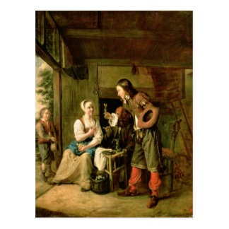 Strijder en Bediende, 1653 Briefkaart