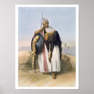 Strijder van Amhara, Ethiopië, illustratie van ' Poster