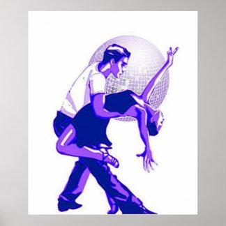 Strikt Blauwe Schaduwen Salsa Poster