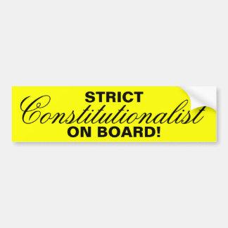 STRIKT, Constitutionalist, AAN BOORD! Bumpersticker
