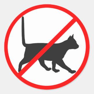 Strikt Verboden voor Katten! Ronde Sticker