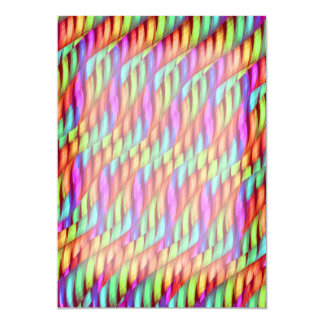 Striping Abstracte Kunstwerk van de Regenboog van 12,7x17,8 Uitnodiging Kaart