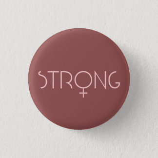 strong,woman,pink ronde button 3,2 cm