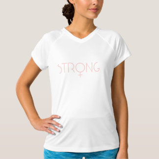 Strong woman pink t shirt