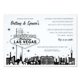 Strook | van Las Vegas de Uitnodiging van het