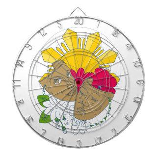 Stroom van Sampaguita van de Hibiscus van de Zon Dartbord