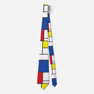 Stropdas van de Kunst van Piet Mondrian het