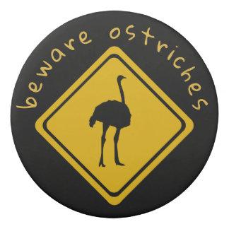 struisvogel verkeersteken - gom gum