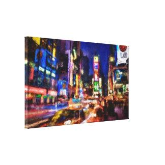 Studie 1 van het Times Square Stretched Canvas Prints