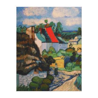 Studie van de Hut van het Stro van Vincent VanGogh Stretched Canvas Afdruk