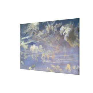Studie van de Wolken van de Cirrus Gallerij Wrap Canvas