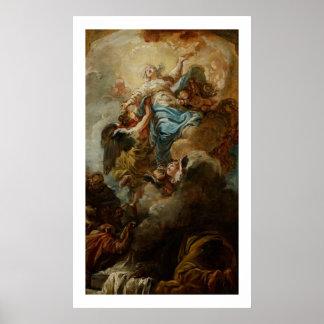 Studie voor de Veronderstelling van Virgin, c.1760 Poster