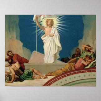 Studie voor de Verrijzenis van Christus, 1860 Poster