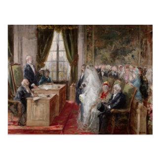 Studie voor het Burgerlijke Huwelijk Wenskaart