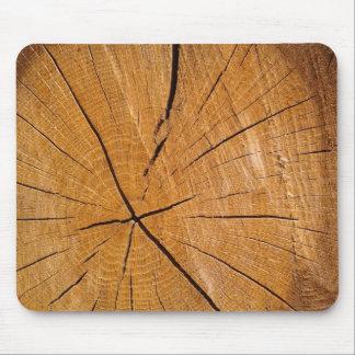 Stuk van houten rustieke houten dekking muismat
