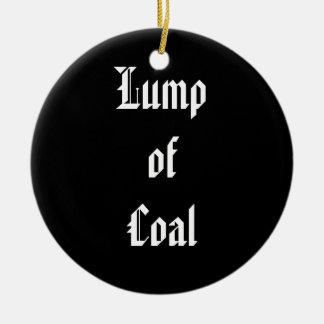 Stuk van Steenkool Rond Keramisch Ornament