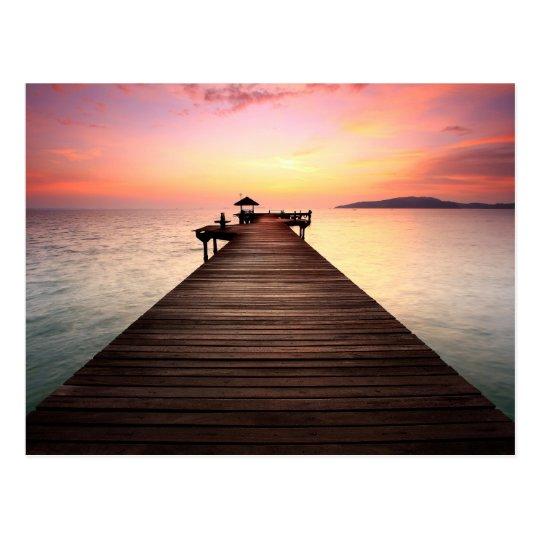 Stunning sunset briefkaart