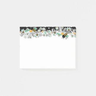 Stuntel de Margrieten van Bijen en Zwarte Stippen Post-it® Notes