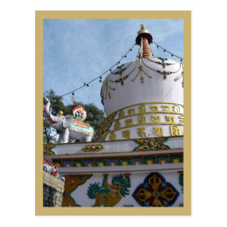 Stupa bij de Tempel van Dalai Lama Briefkaart