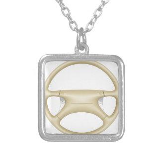 Stuurwiel - vooraanzicht zilver vergulden ketting