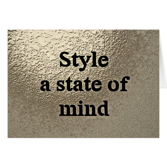Style a state of mind - Kaart