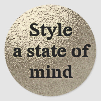 Style a state of mind - Sticker rond