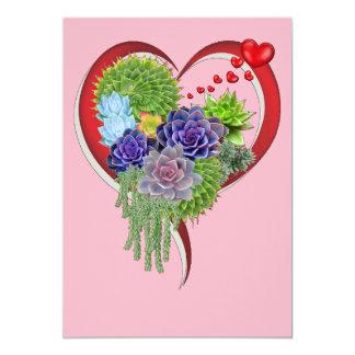 Succulent-huwelijk-boeket Kaart