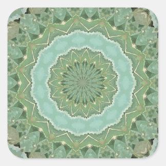 Succulente Mandala Vierkante Sticker